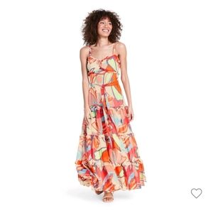 Alexis x Target Mixed Floral Tiered Ruffle Dress